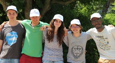 Adrien, Charles, Julie, Bastien et Arnold, l'équipe montpelliéraine en lice aux «24 heures de l'innovation au service du handicap». Crédit photo : Abadie Laurie
