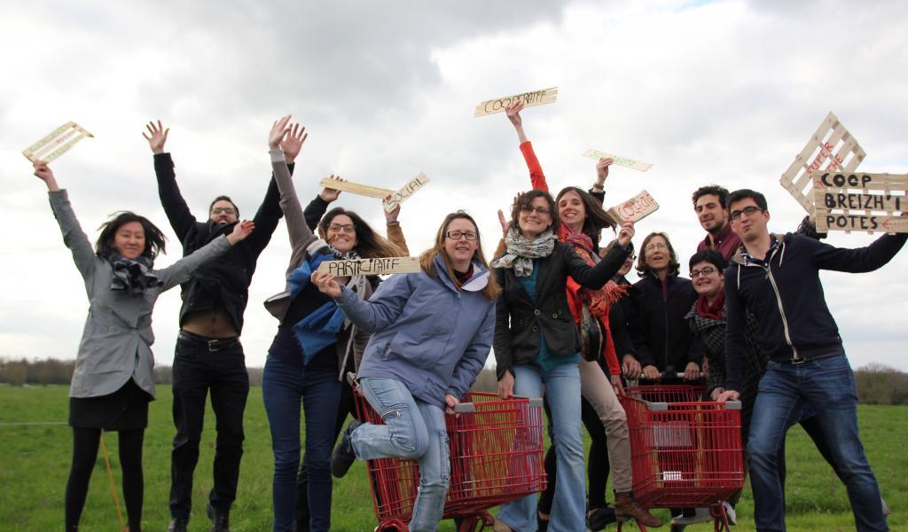 Les membres du projets Breizh'i'potes, supermarché coopératif de Rennes