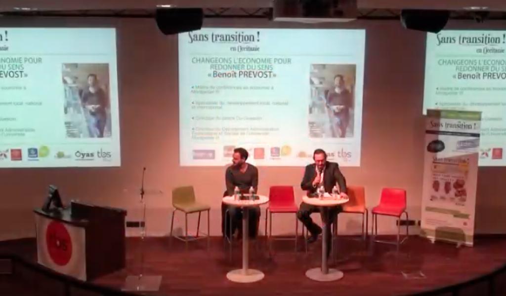 Benoît Prévost à la Toulouse Business School le 5 déc.