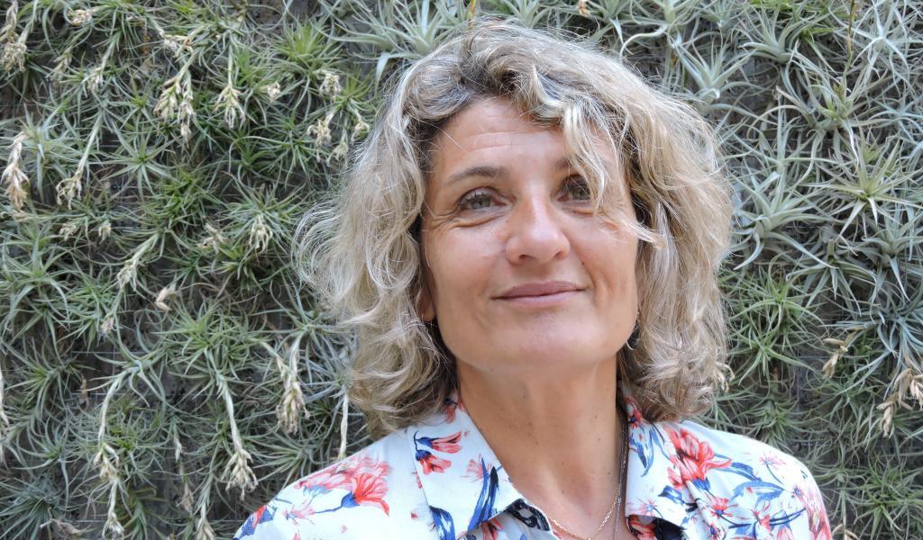 Catherine Bonduau-Flament est directrice de l'association ECOBATP LR. Elle co-animait les OFF du Développement Durable à Montpellier (34), le 29 juin 2017.