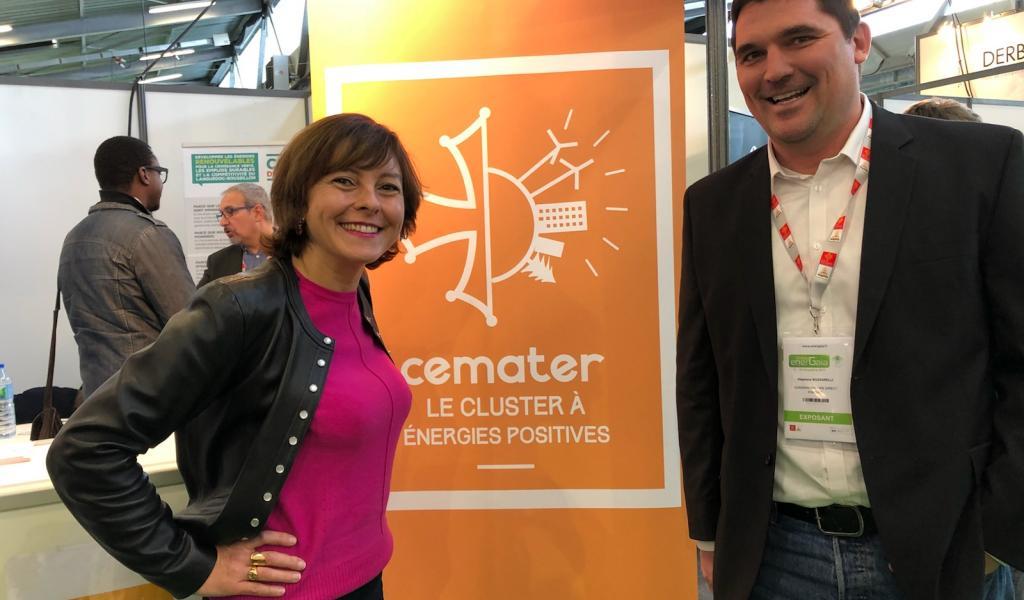 Carole Delga, présidente de la Région Occitanie, et Stéphane Bozzarelli, président du Cluster CEMATER - Crédit : JD / LMDP