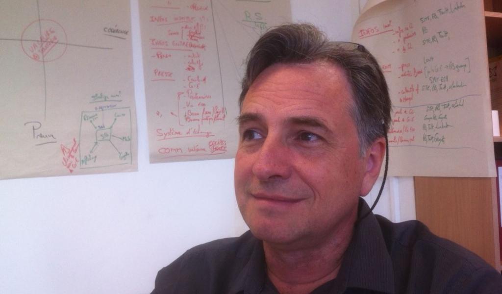 Frédéric Sanchez, gérant de la coopérative montpelliéraine d'entrepreneurs, Crealead - JD / LMDP