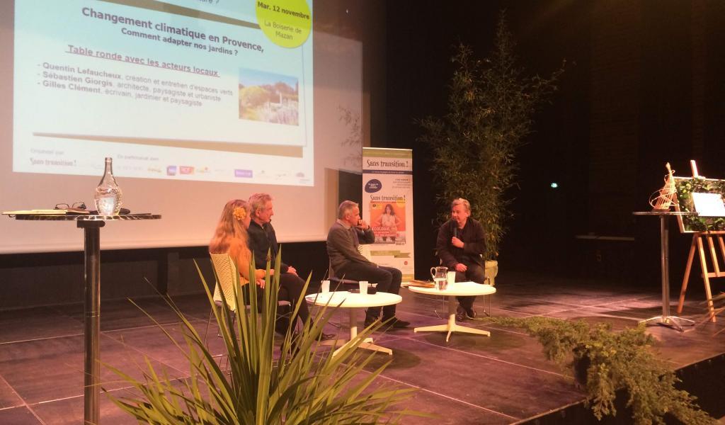 Conférence à Mazan avec Gilles Clément