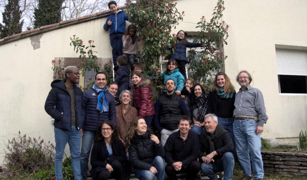 Le groupe de la coopérative d'habitants Lez'Coop et des adhérents à l'association Casalez © F. Brau