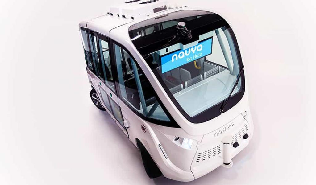 La navette autonome nantaise accueille jusqu'à 15 personnes - crédit Navya
