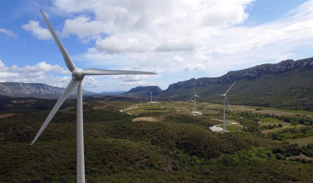 Parc éolien « El Singla », sur les communes de Prugnanes et Saint-Paul-de-Fenouillet, dans les Pyrénées-Orientales. DR
