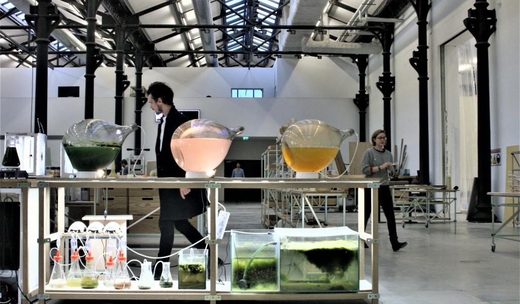 L'atelier Luma réunit designers, artistes, artisans ou encore ingénieurs dans l'une des halles des anciens ateliers SNCF d'Arles. Objectif : créer des objets avec des matières locales et biosourcées. © F. Delotte