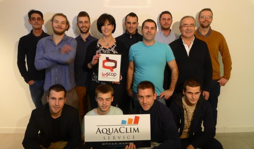 Légende : l'équipe d'Aquclim Service est composée de 13 salariés. Crédits photos : Aquaclim Service