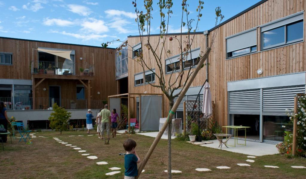 """Projet d'habitat participatif """"La Boîte noire"""", à Nantes - Crédit : B.Nauleau"""
