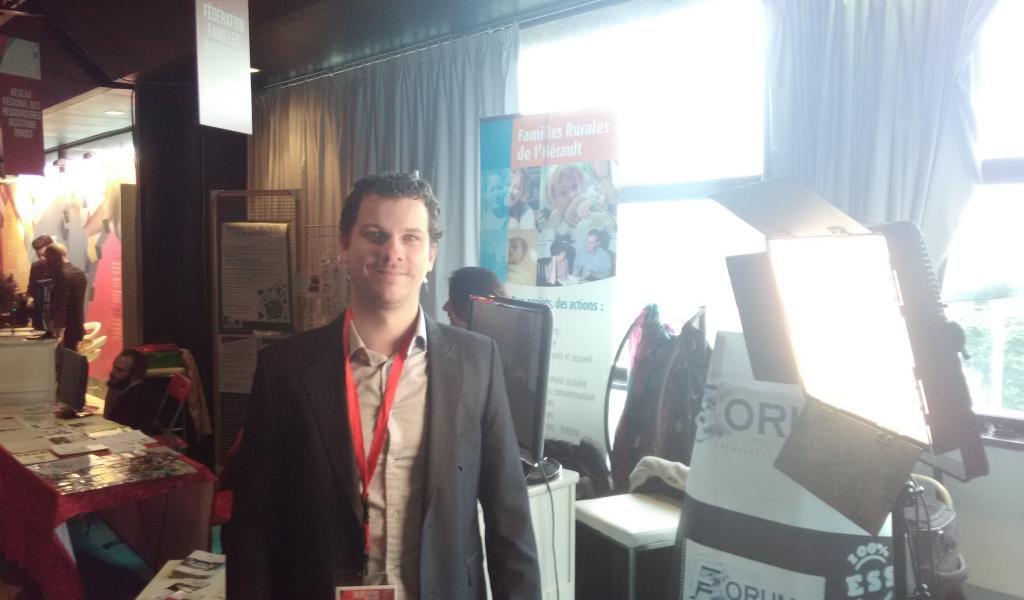 Didier Martinet, de la coopérative héraultaise Forum TV - Crédit : FD / LMDP